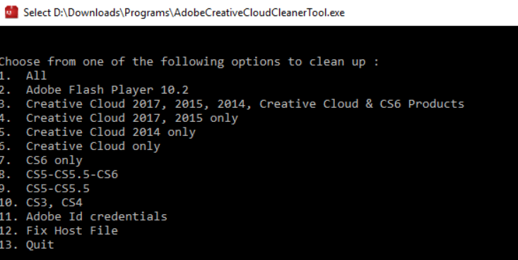 Use the Adobe Creative Cloud Cleaner tool